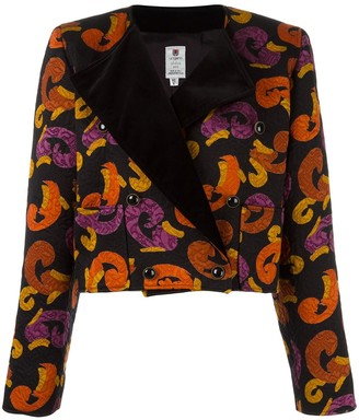 Emanuel Ungaro Pre Owned Jacquard Printed Cropped Jacket