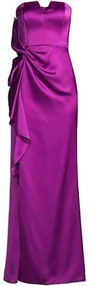 Aidan Mattox Strapless Sweetheart Flare Gown