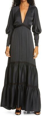 A.L.C. Gwyneth Long Sleeve Maxi Dress