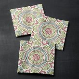 Crate & Barrel Caprice Holiday Paper Lunch Napkins Set of 20