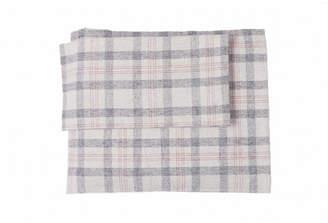 Flannel Check Plaid Sheet Set Queen Bedding