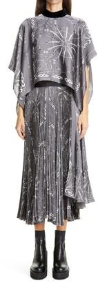 Sacai Dr. Woo Bandana Print Popover Midi Dress