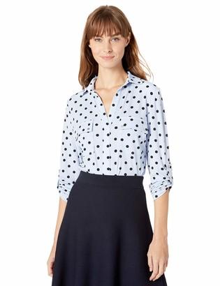 Jones New York Women's Popover Knit Crepe Shirt