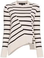 Proenza Schouler stripe asymmetric jumper