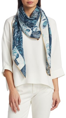 Loro Piana The Ramble Abstract Floral-Print Cashmere & Silk Scarf