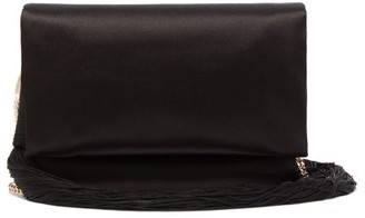 Galvan Tasselled Satin Shoulder Bag - Black