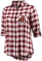 Unbranded Women's Plus Size Concepts Sport Black/Red Maryland Terrapins Forge Rayon Flannel Long Sleeve Button-Up Shirt