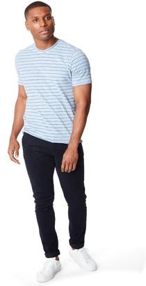 Good Man Brand Slim Fit Heather Stripe Jersey T-Shirt