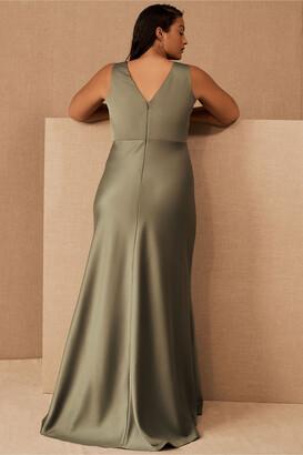 BHLDN Beckett Satin Charmeuse Maxi Dress