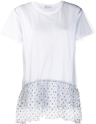 RED Valentino tulle hem short-sleeved T-shirt