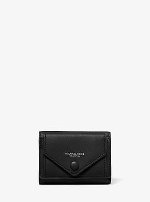 Michael Kors Calf Leather Small Pocket Wallet - Black