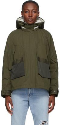 Yves Salomon   Army Yves Salomon - Army Green Down Shearling Bachette Jacket