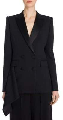 Alexander McQueen Draped Double-Breasted Jacket