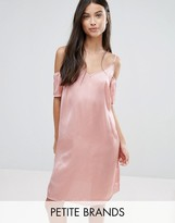 Vero Moda Petite Off The Shoulder Slip Dress