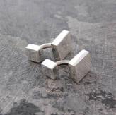 Otis Jaxon Silver Jewellery Classic Square/Rectangular Sterling Silver Cufflinks