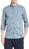 French Connection Men's Slim Fit Paisley Sport Shirt