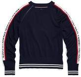 Tommy Hilfiger Adaptive Logo Crew Neck Sweater (Masters Navy/Multi) Women's Clothing