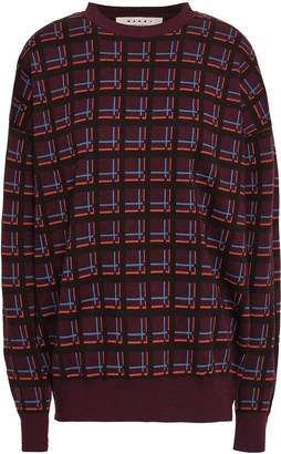 Marni Checked Wool-jacquard Sweater