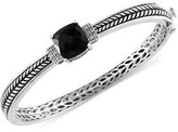 Effy Onyx (4-1/5 ct. t.w.) and Diamond Accent Bangle Bracelet in Sterling Silver