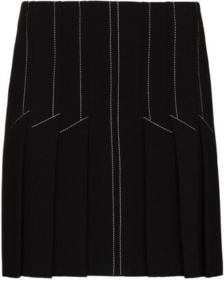 Dion Lee Pleated Mini Skirt