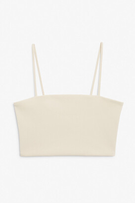 Monki Spaghetti strap crop top