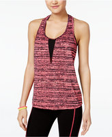Material Girl Active Mesh-Back Printed Tank Top, Only at Macy's
