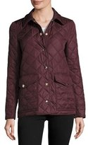 Burberry Westbridge Quilted Jacket, Crimson