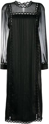 Ports 1961 Embroidered Shift Midi Dress