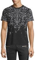 Just Cavalli Shatter-Print Short-Sleeve Tee, Black