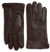 John Varvatos Leather Whip Stitch Gloves