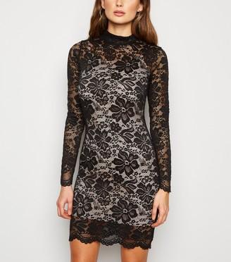 New Look Carpe Diem Lace High Neck Dress