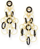 Buccellati Hawaii Onyx Circle Earrings in 18K Gold