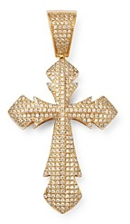 Bloomingdale's Men's Pave Diamond Cross Pendant in 14K Yellow Gold, 0.75 ct. t.w. - 100% Exclusive