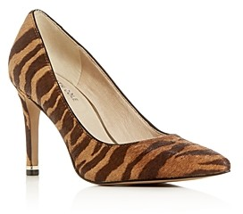 Kenneth Cole Women's Riley Animal Print Calf Hair Pointed-Toe Pumps