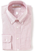 Roundtree & Yorke Gold Label Non-Iron Regular Full-Fit Bengal-Striped Oxford Dress Shirt
