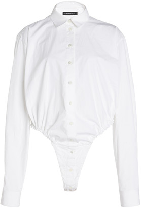 Y/Project Oversized Cotton Poplin Bodysuit