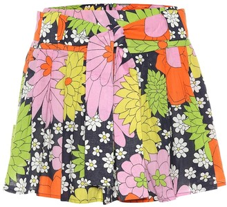 Dodo Bar Or Floral cotton miniskirt