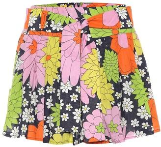 Dodo Bar Or Floral cotton miniskirt
