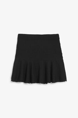Monki Crinkled mini skirt