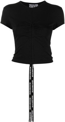 Versace Jeans Couture gathered front T-shirt