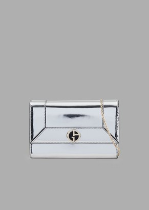 Giorgio Armani Mini Cross-Body Bag In Mirror-Effect Leather
