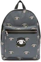 Kenzo Black Large Tiger Canvas Backpack