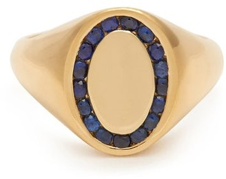 Jessica Biales - Sapphire & 18kt Gold Ring - Blue