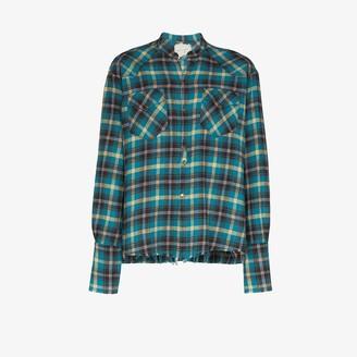 Greg Lauren Western check cotton shirt