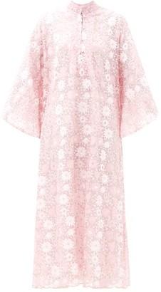 La Vie Style House - Sequinned Mesh Kaftan - Light Pink