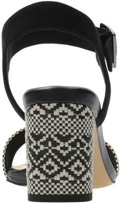 Clarks Amali Weave Heeled Sandals - Black