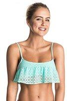 Roxy Women's Doted Crochet Flutter Top Bikini Top
