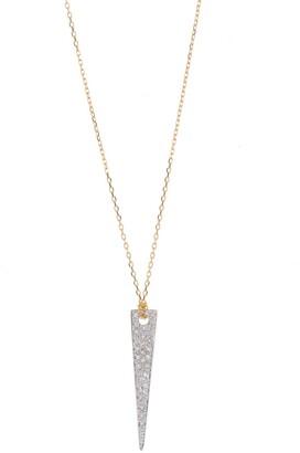 Ron Hami Two-Tone 14K Gold Pave Diamond Spike Pendant Necklace - 0.05 ctw