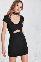 Silence & Noise Silence + Noise Cutout Short-Sleeve Bodycon Mini Dress
