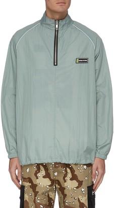Daniel Patrick Half zip drawstring hem windbreaker jacket